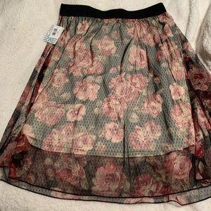 Lularoe Lola Skirt Black Rose